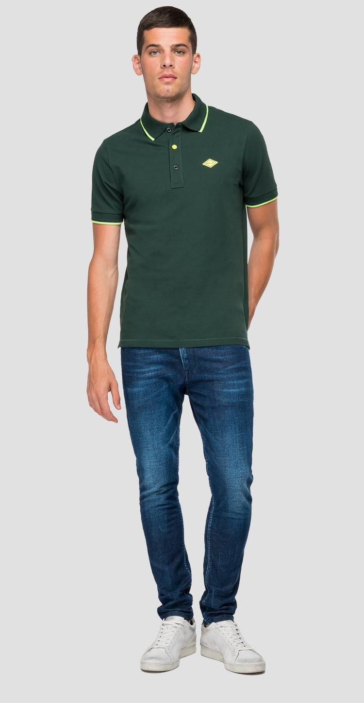 REPLAY polo shirt in stretch piquet m3543 .000.21868