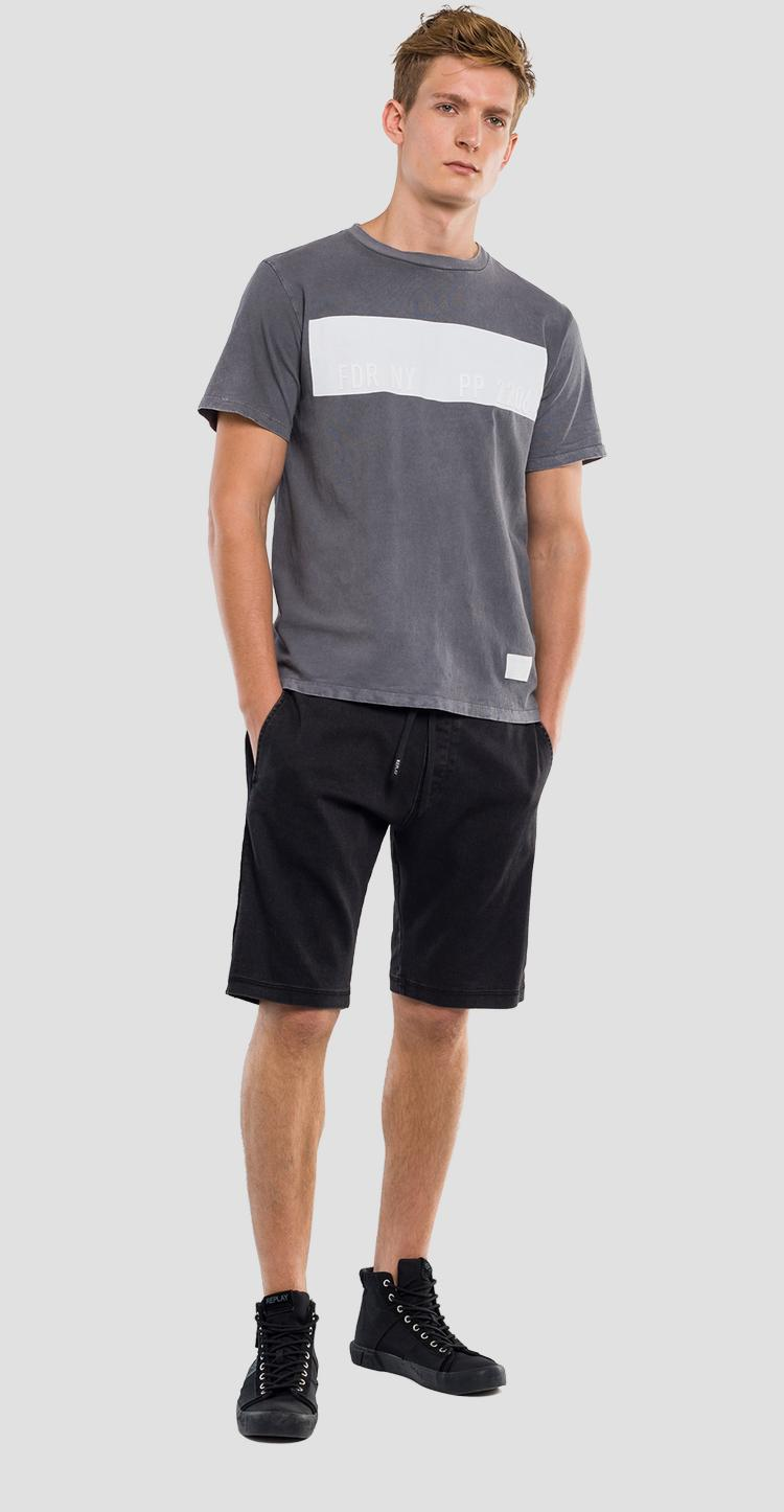 Cotton t-shirt with faded effect REPLAY SPORTLAB m3831 .000.s22662m
