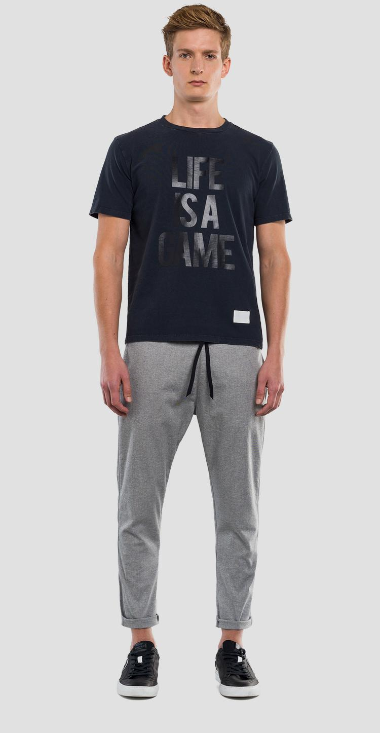 LIFE IS A GAME t-shirt Replay SportLab m3832 .000.s22662m