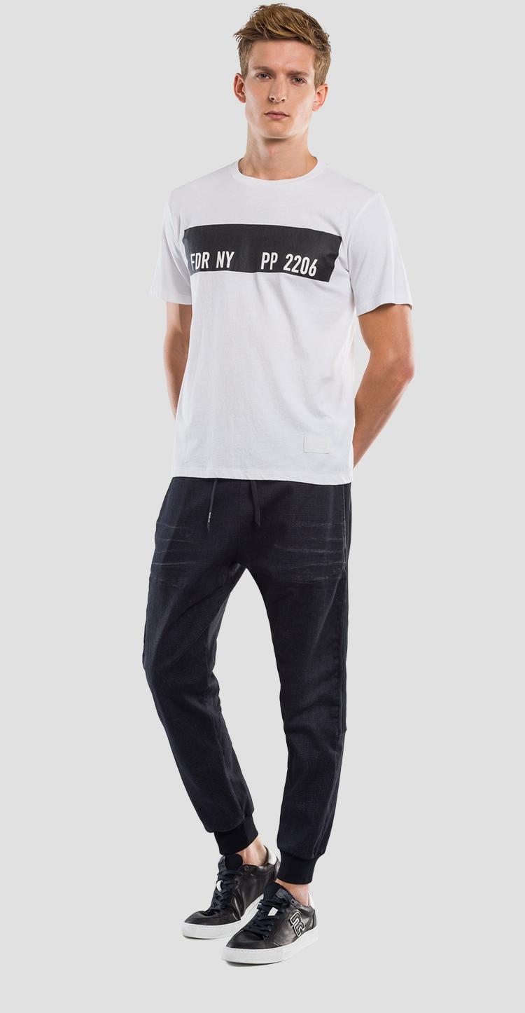 T-shirt with contrasting stripe REPLAY SPORTLAB m3833 .000.s22662