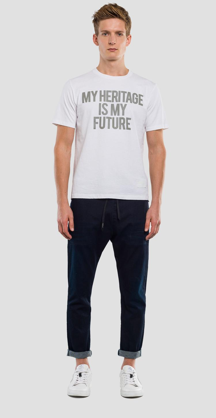 T-shirt with lettering print REPLAY SPORTLAB m3835 .000.s22662