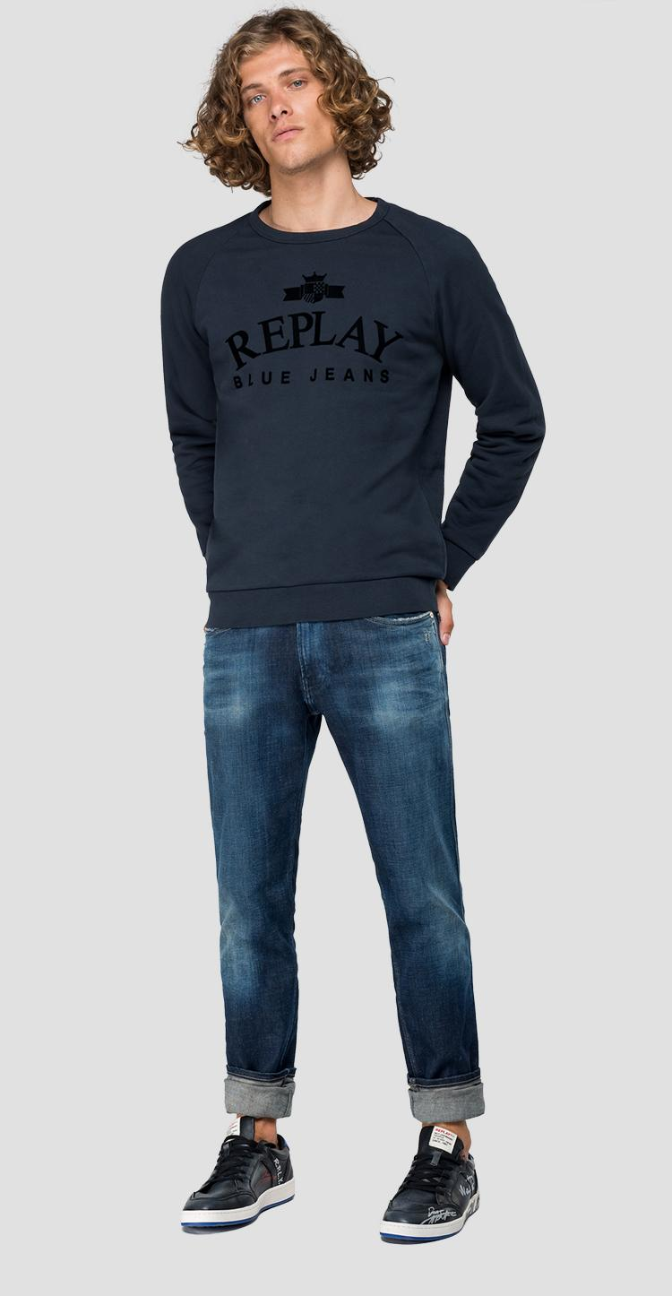 REPLAY BLUE JEANS sweatshirt m3916 .000.21842