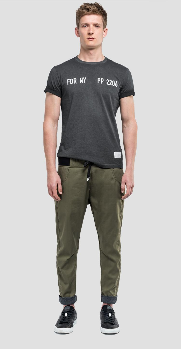 T-shirt with writing sportlab - Replay