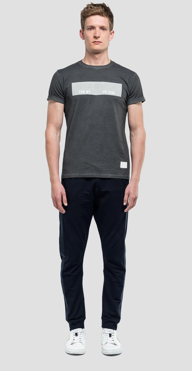 T-shirt with contrasting print sportlab - Replay
