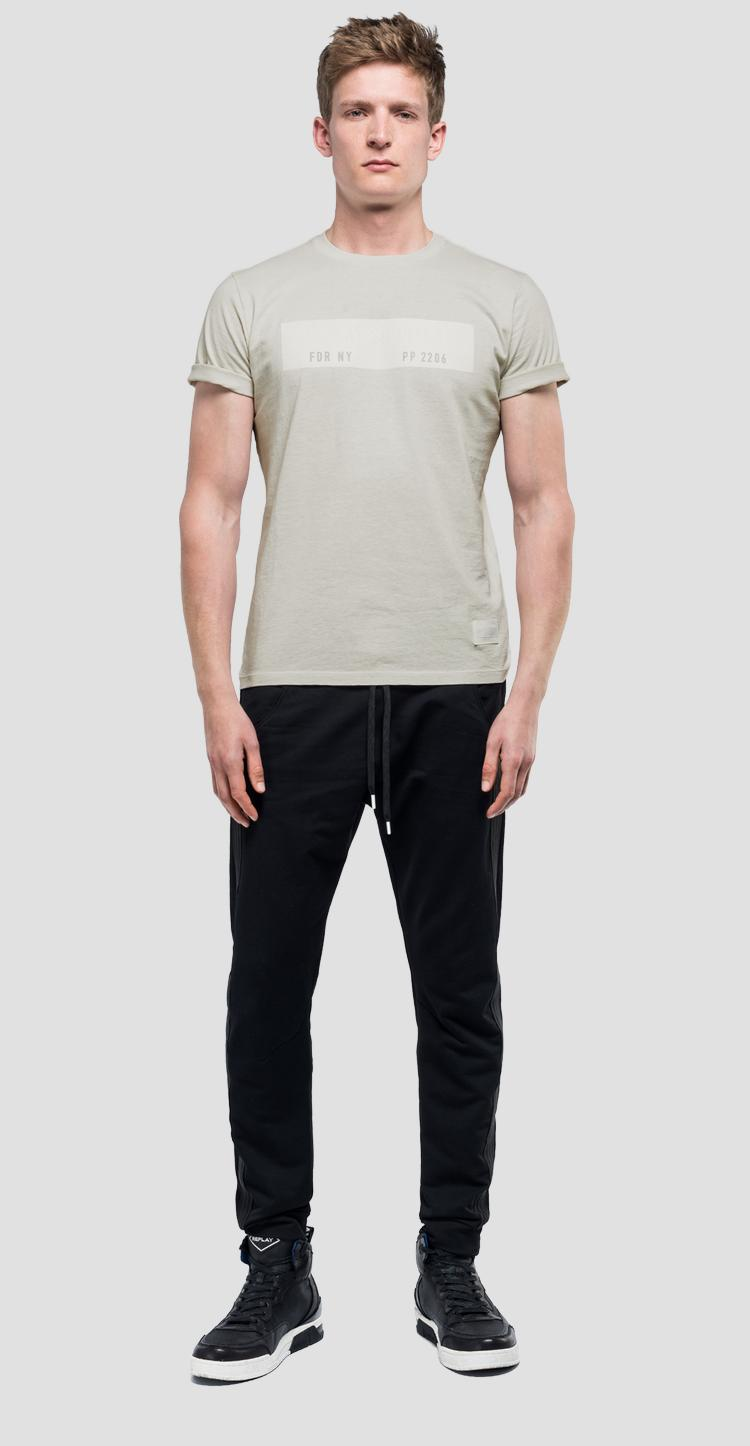 Cotton t-shirt with writings sportlab m3954 .000.s22740d