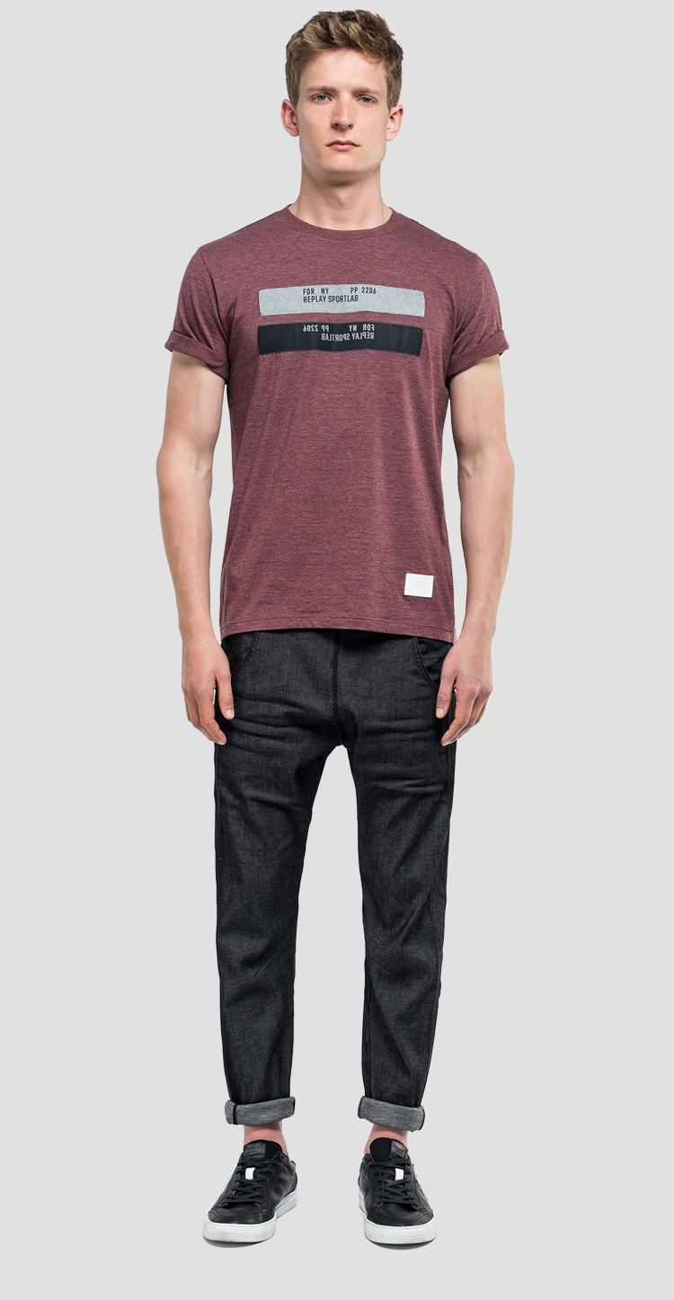 T-shirt with contrasting inserts sportlab m3955 .000.s22744a