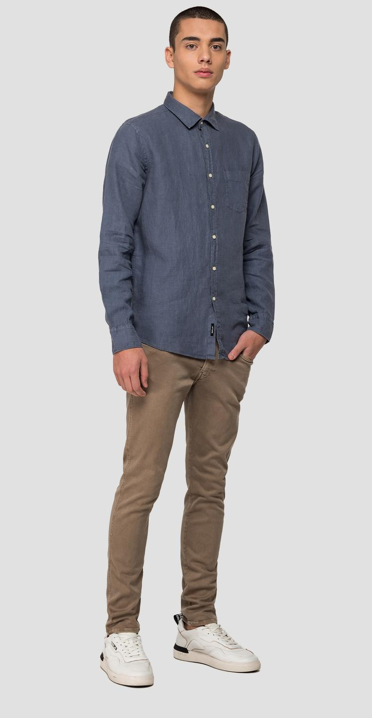 Linen shirt with pocket - Replay