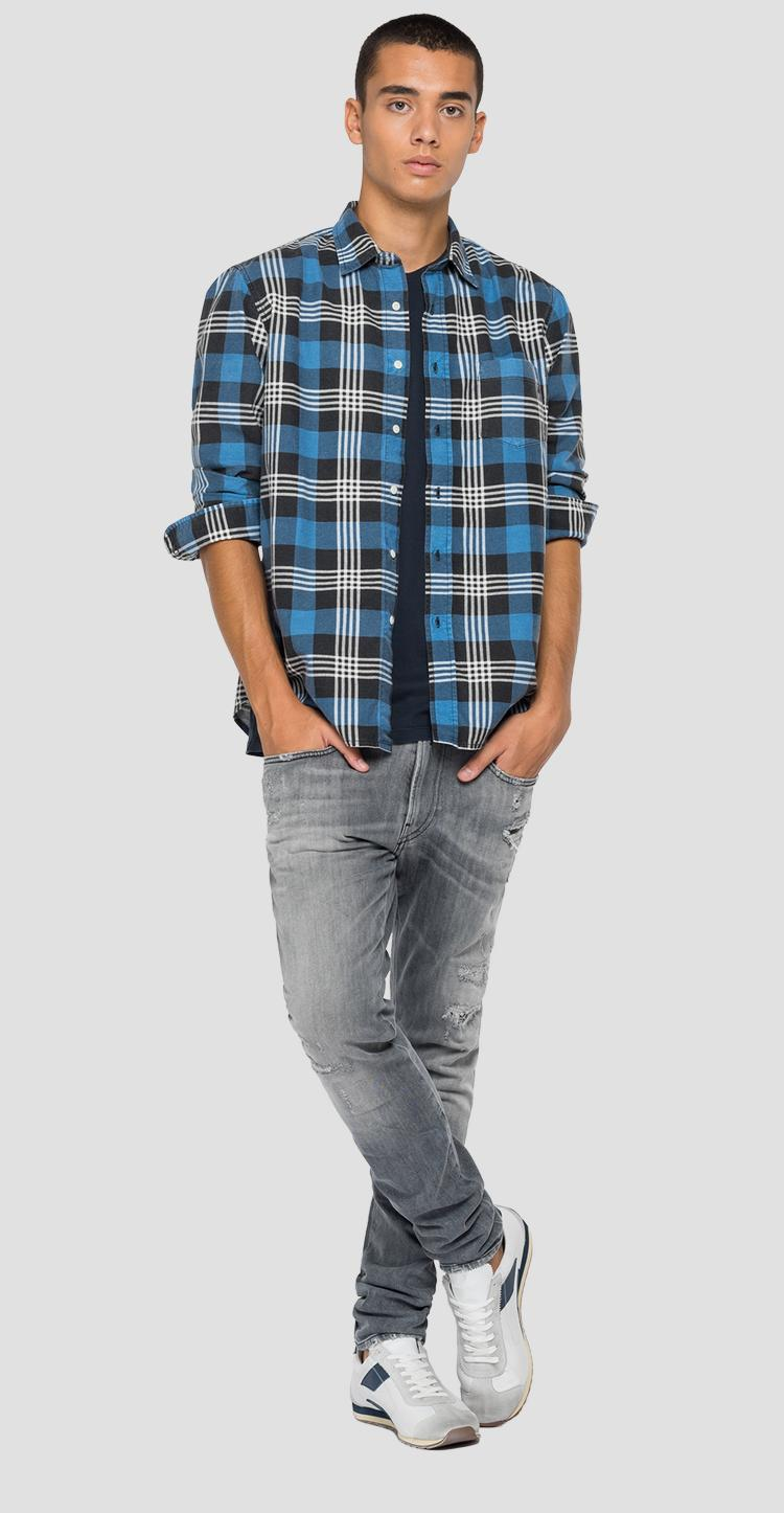 Checked shirt in flannel m4055 .000.72210