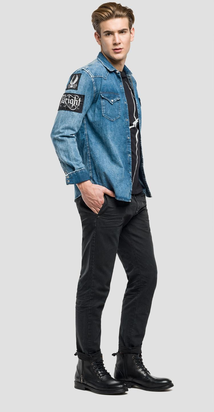 c9f4921b93f Denim shirt with patches - Replay