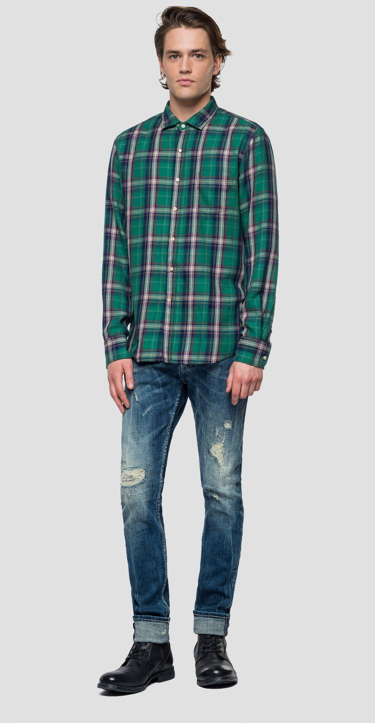 Shirt with checked pattern m4953p.000.52130
