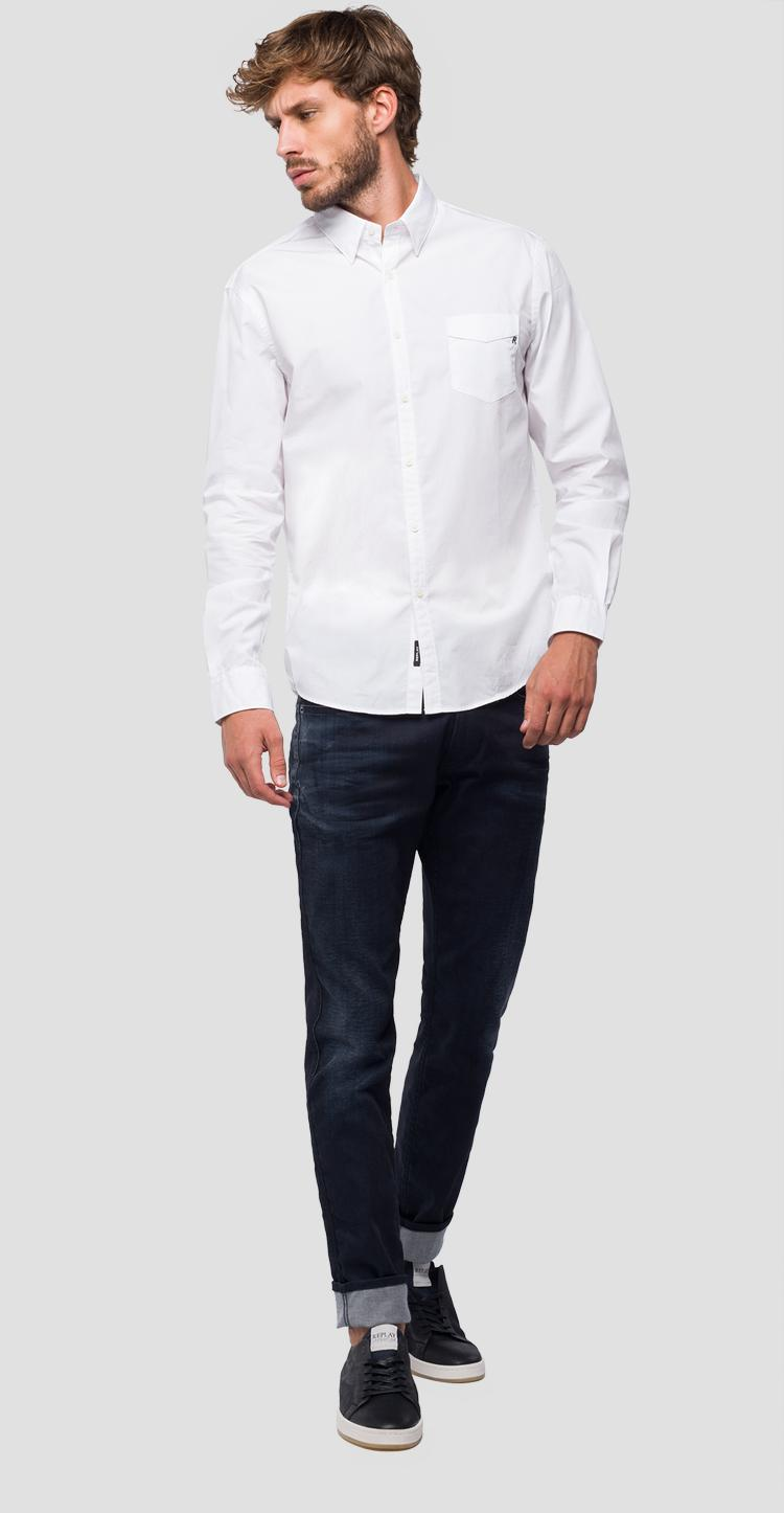Classic shirt with pocket m4972b.000.83214