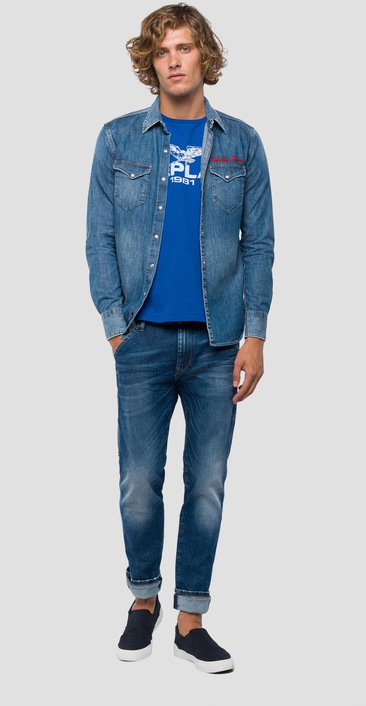 3ef570bee53 REPLAY JEANS shirt m4981r.000.26c 490