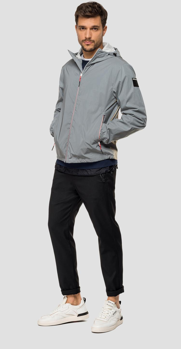 Jacket with reflective effect m8045a.000.83602