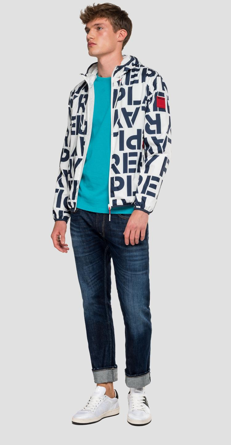 Jacket with Replay print m8046 .000.72010
