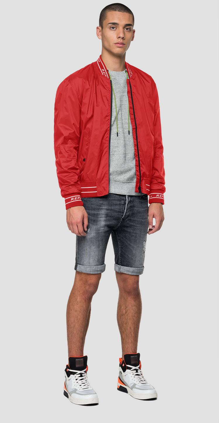 Replay bomber jacket in nylon with pockets - Replay