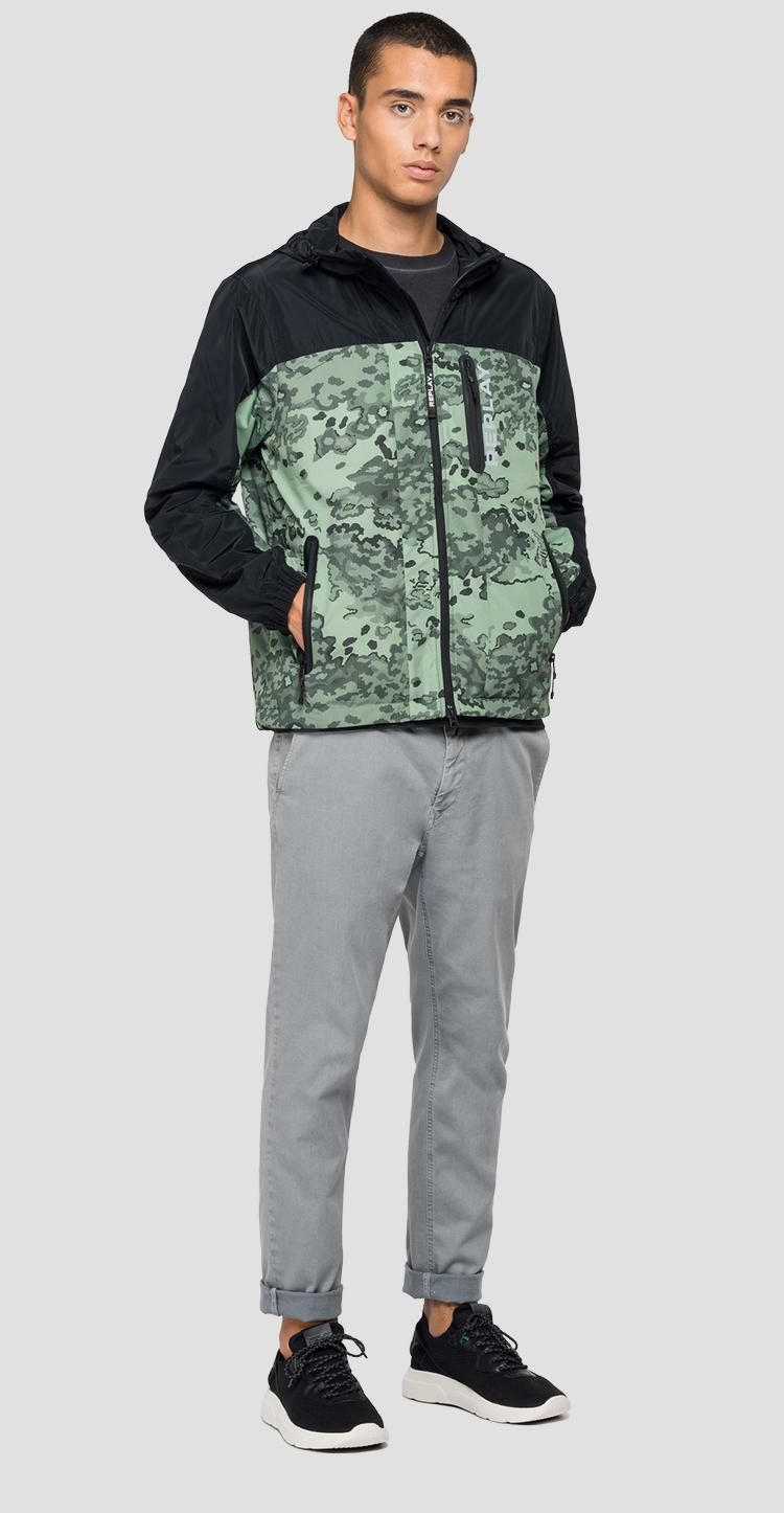 REPLAY camouflage jacket in recycled nylon m8136a.000.73336
