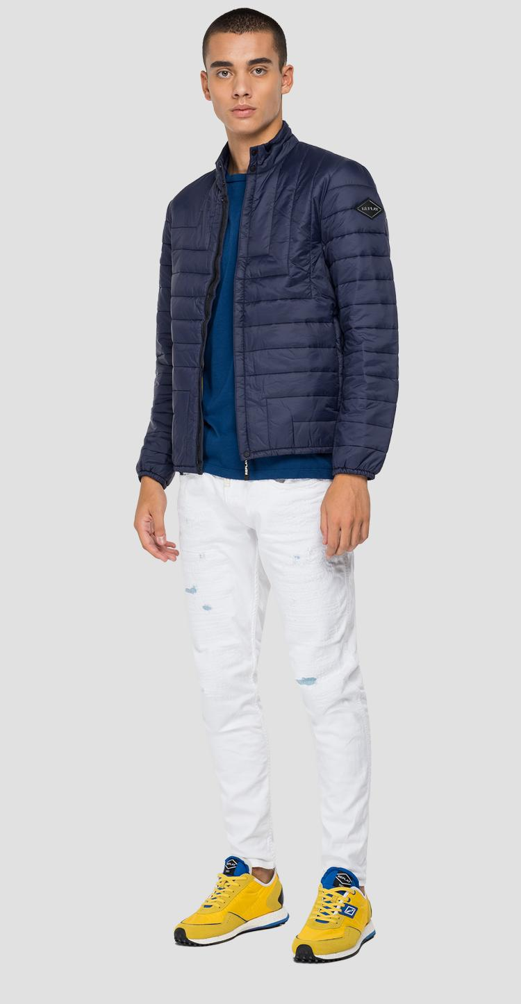 Turtleneck quilted jacket in recycled nylon m8166 .000.83966r