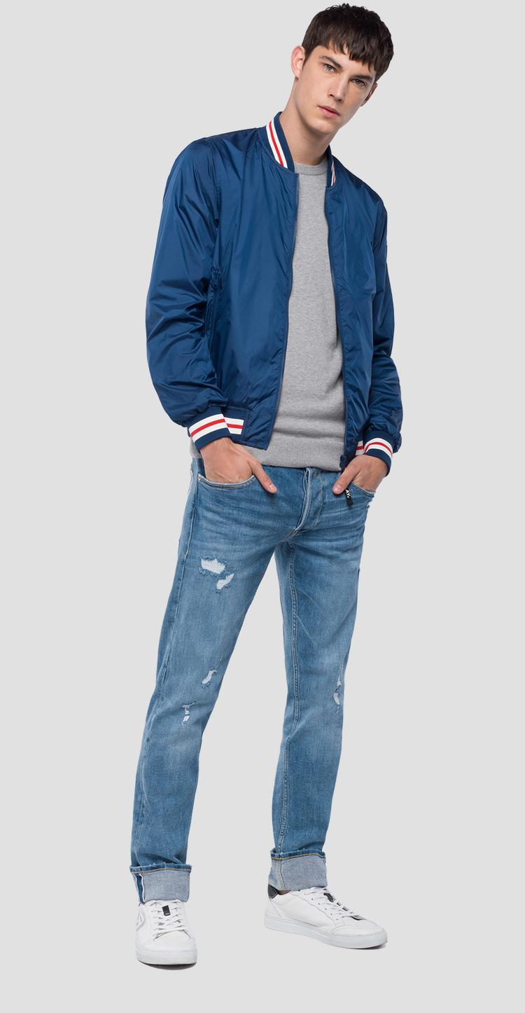 Technical bomber jacket with stripes m8965 .000.82692