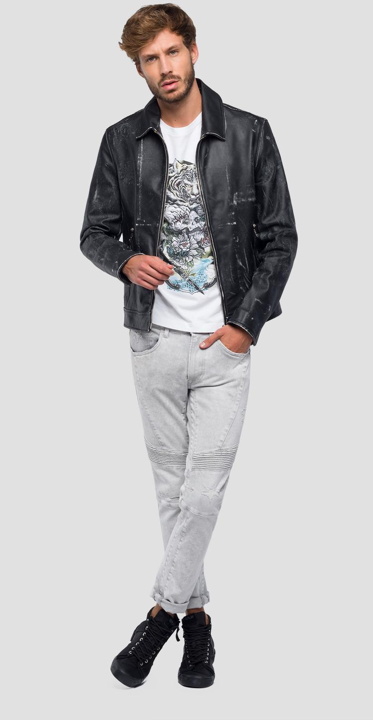 Jacket in crust leather m8990 .000.82246s