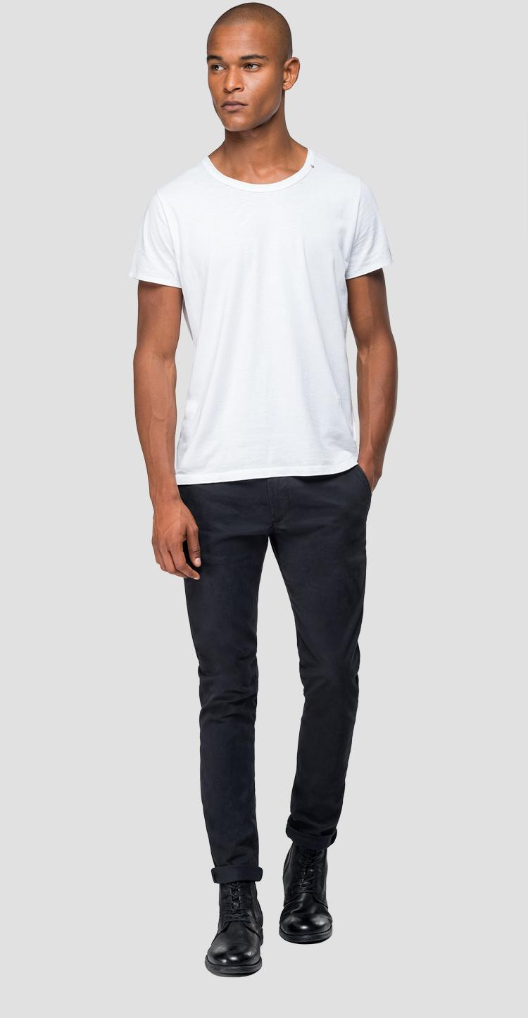 Chino trousers in elasticated cotton m9559l.000.80629