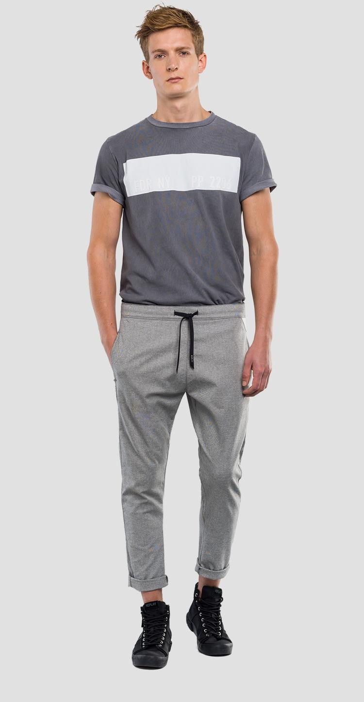 Loose fit jogger pants with drawstring REPLAY SPORTLAB m9656 .000.s51831