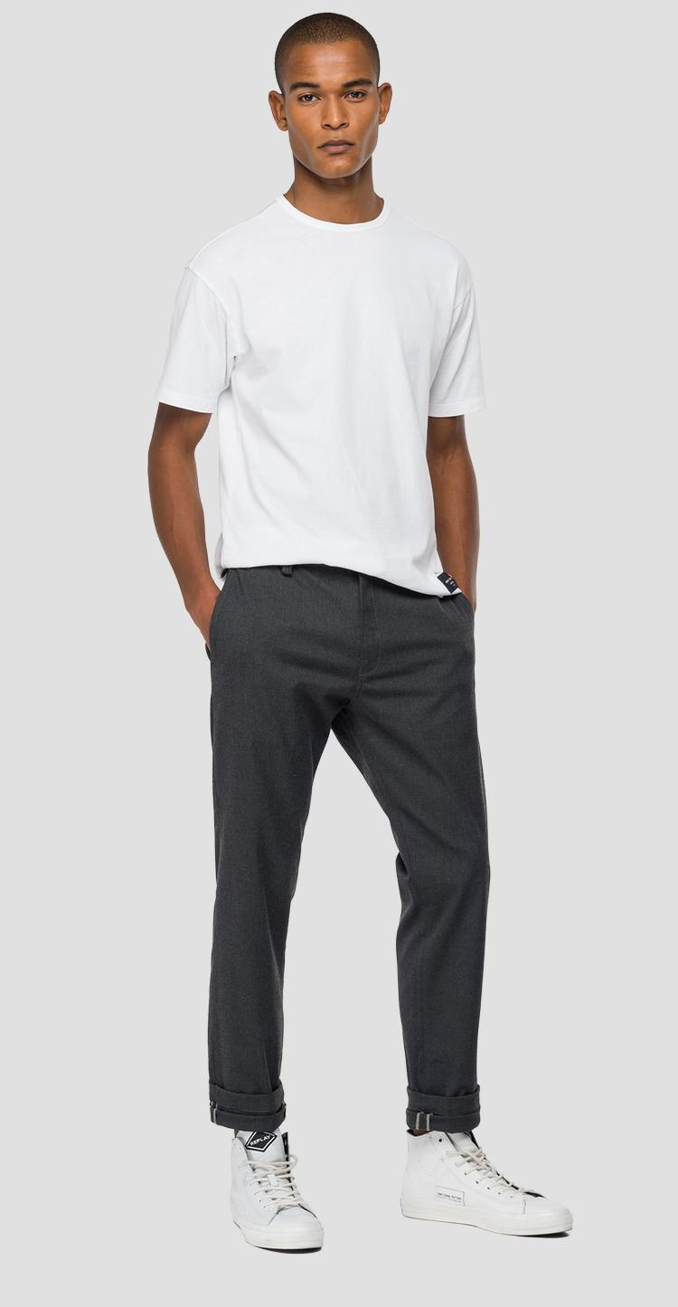 Replay Tailored stretch canvas twill chino trousers - Replay