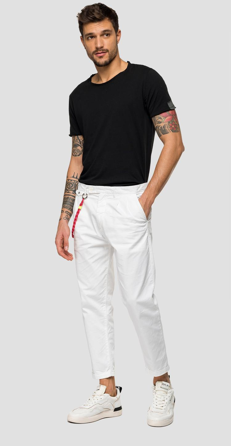 Twill chino trousers with chain - Replay