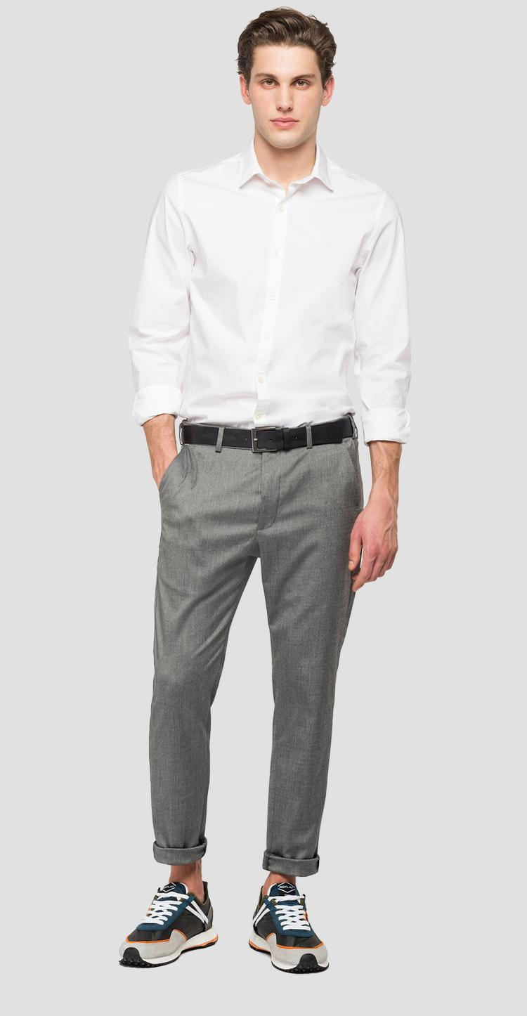 Mélange trousers with pockets Smart m9687 .000.50587