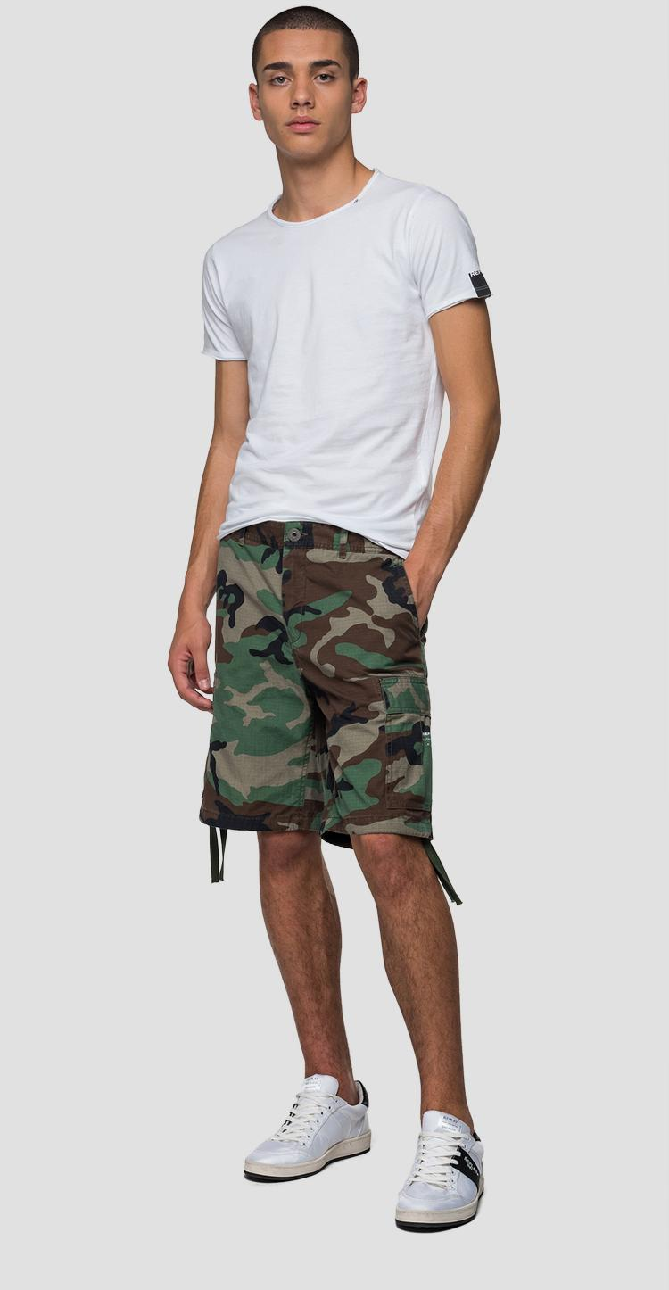 Bermuda shorts with camouflage print m9697 .000.72038