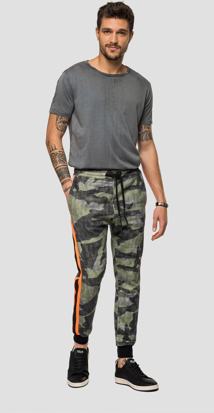Jogger with camouflage print m9703 .000.72082