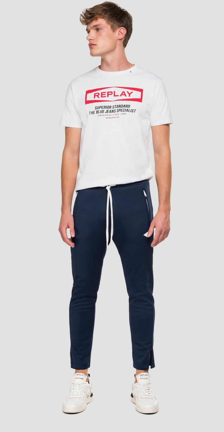 Jogger with REPLAY striped ribbon m9706b.000.22610