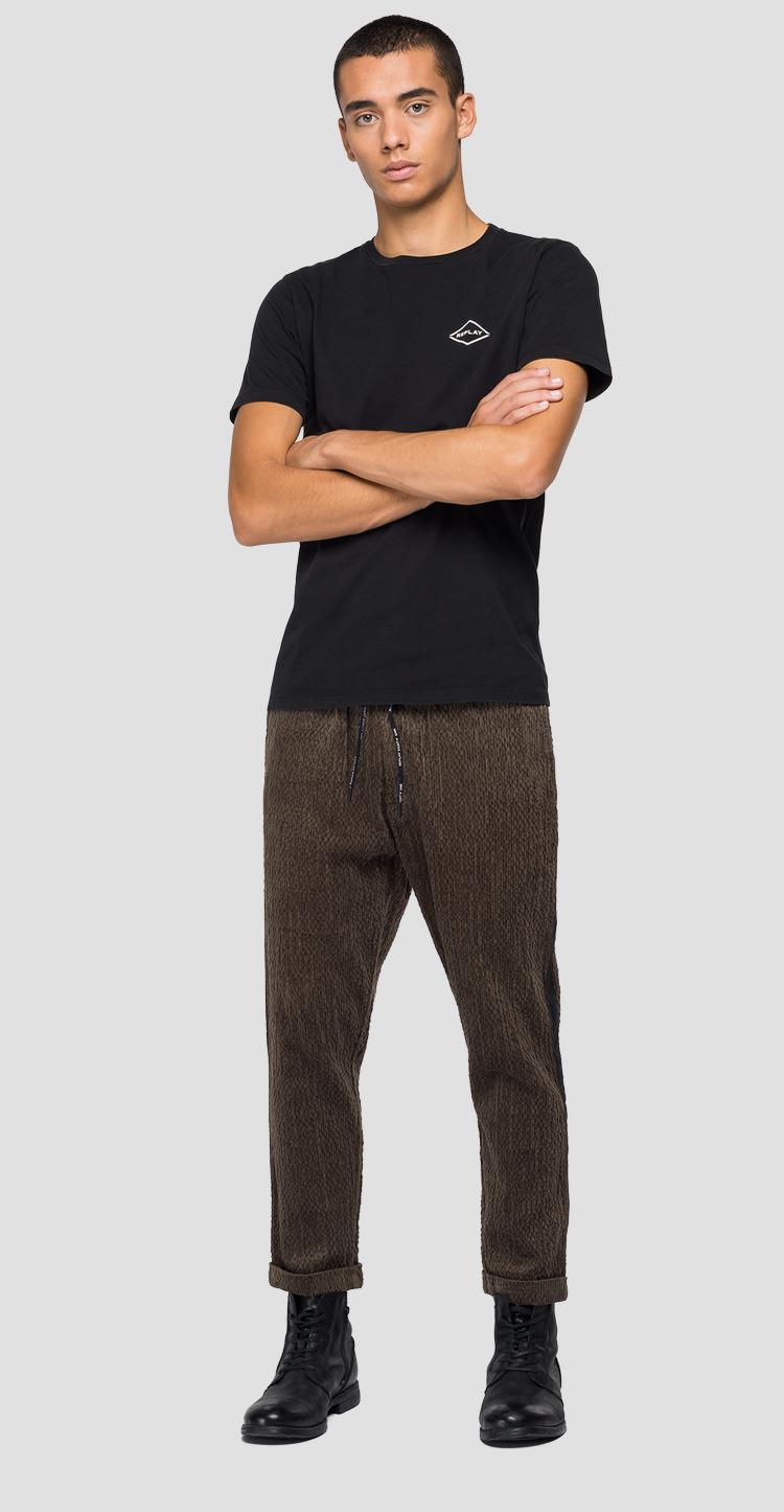 Velvet trousers with drawstring - Replay