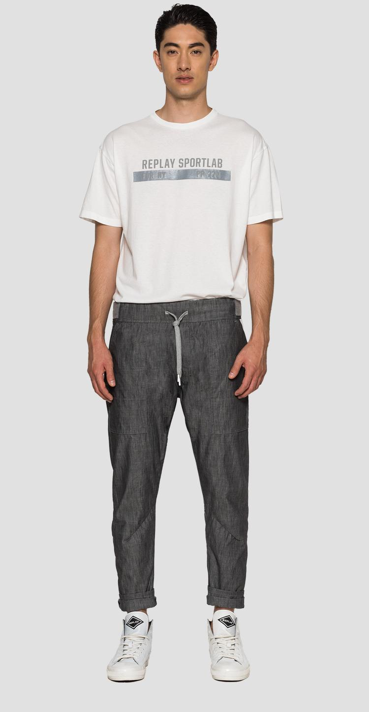 Regular fit SPORTLAB trousers in chambray denim - Replay