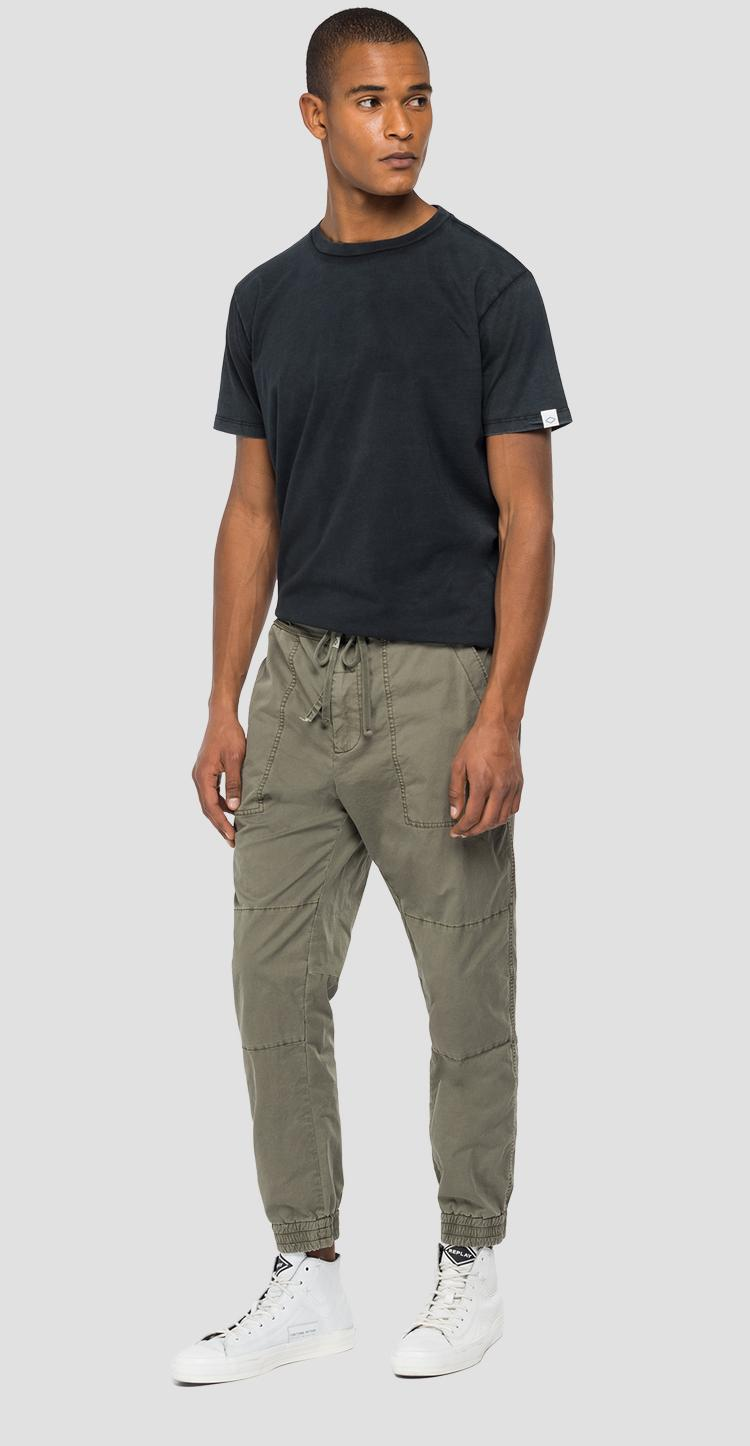 Cotton trousers with drawstring m9750 .000.84073g