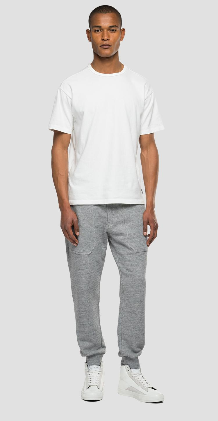 Agender Replay Tailored mélange jogger pants - Replay
