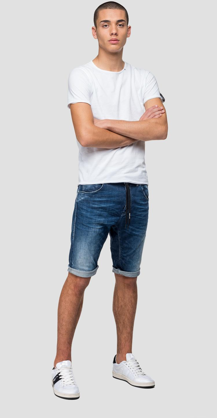Comfort denim Djovic bermuda shorts - Replay