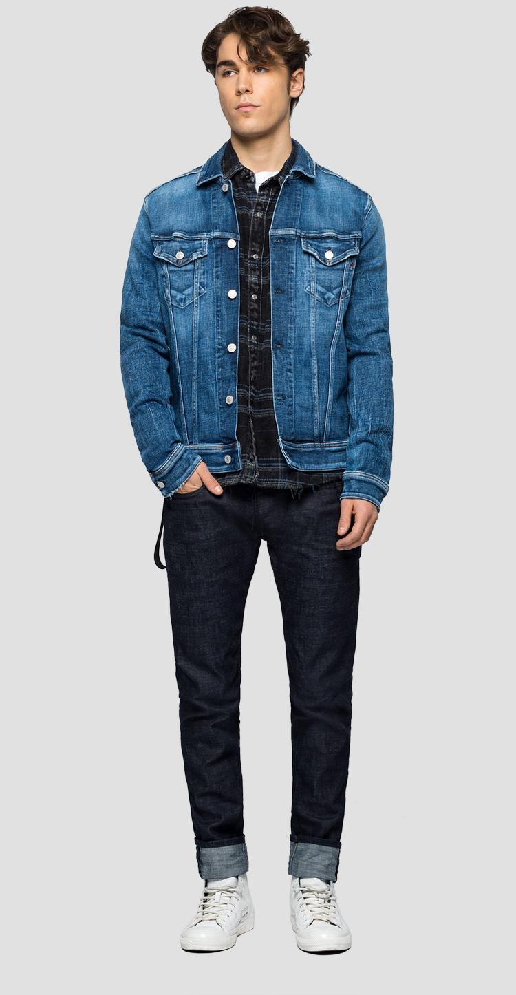 Regular fit jacket in Aged 5 years Sustainable denim mv842c.000.141 704