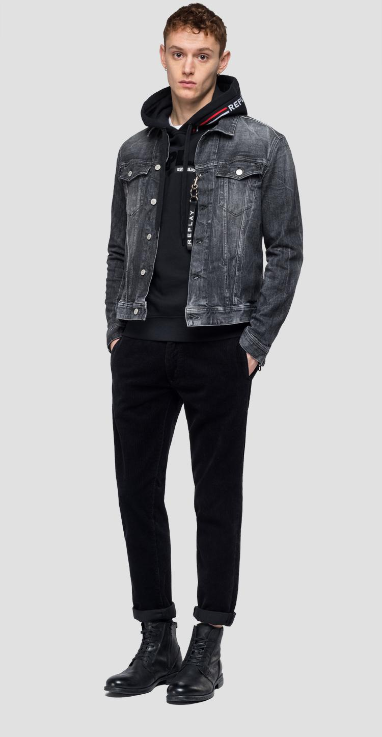 Jacket in crinkly Maestro denim - Replay