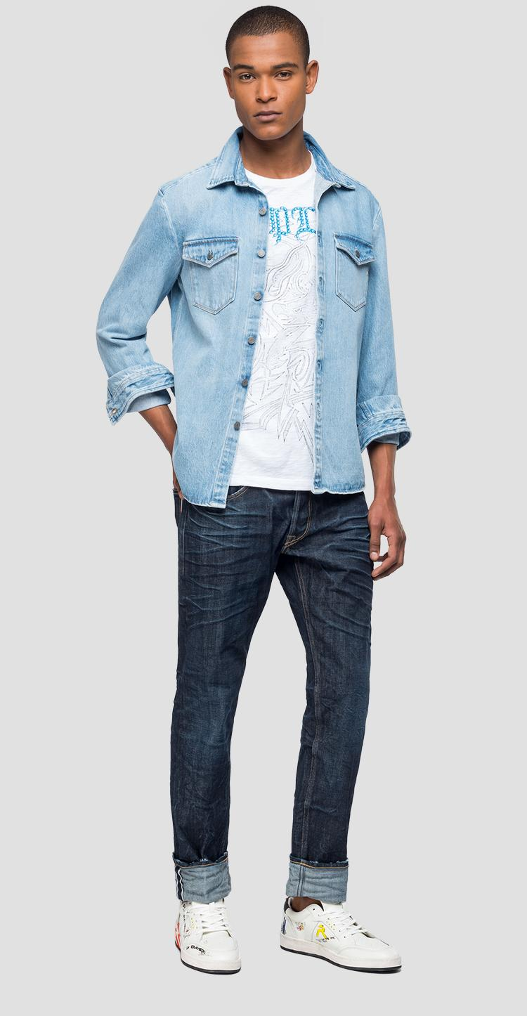 Denim jacket with pockets - Replay