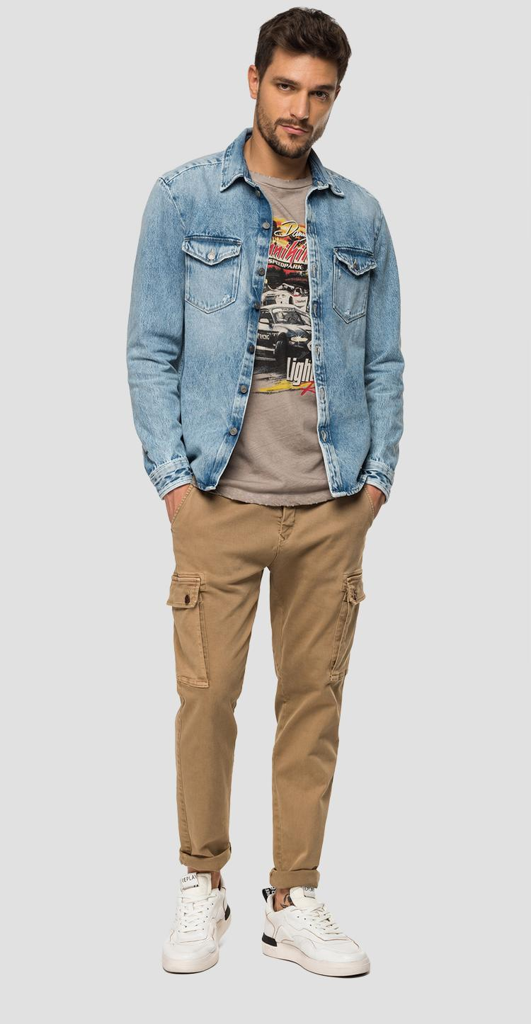 Regular fit denim shirt jacket - Replay