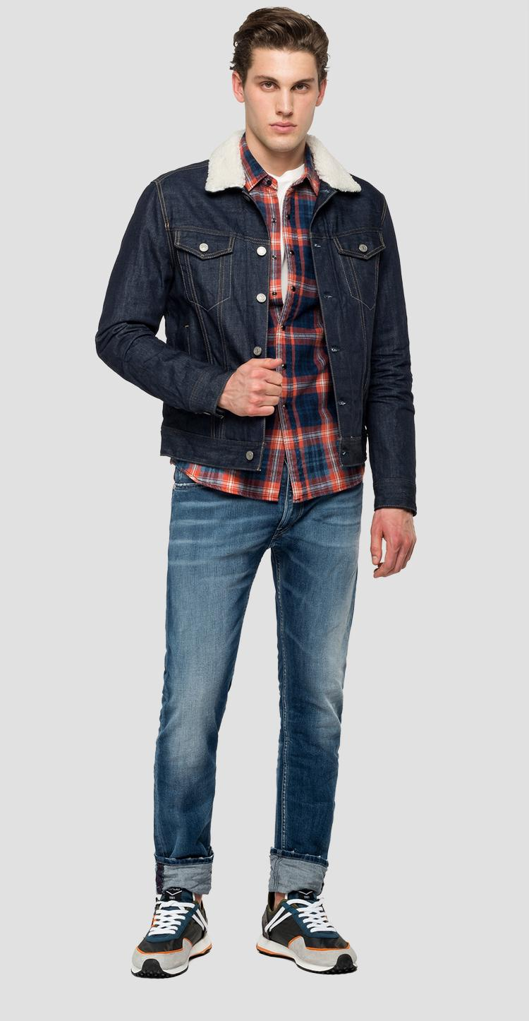 Denim jacket with borg collar - Replay