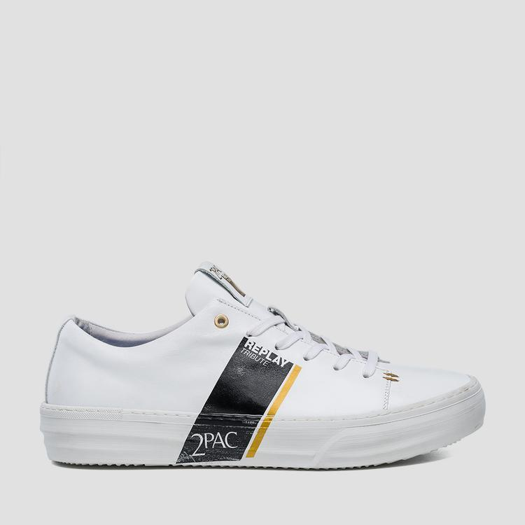 Men's Replay Tribute Tupac leather sneakers - Replay