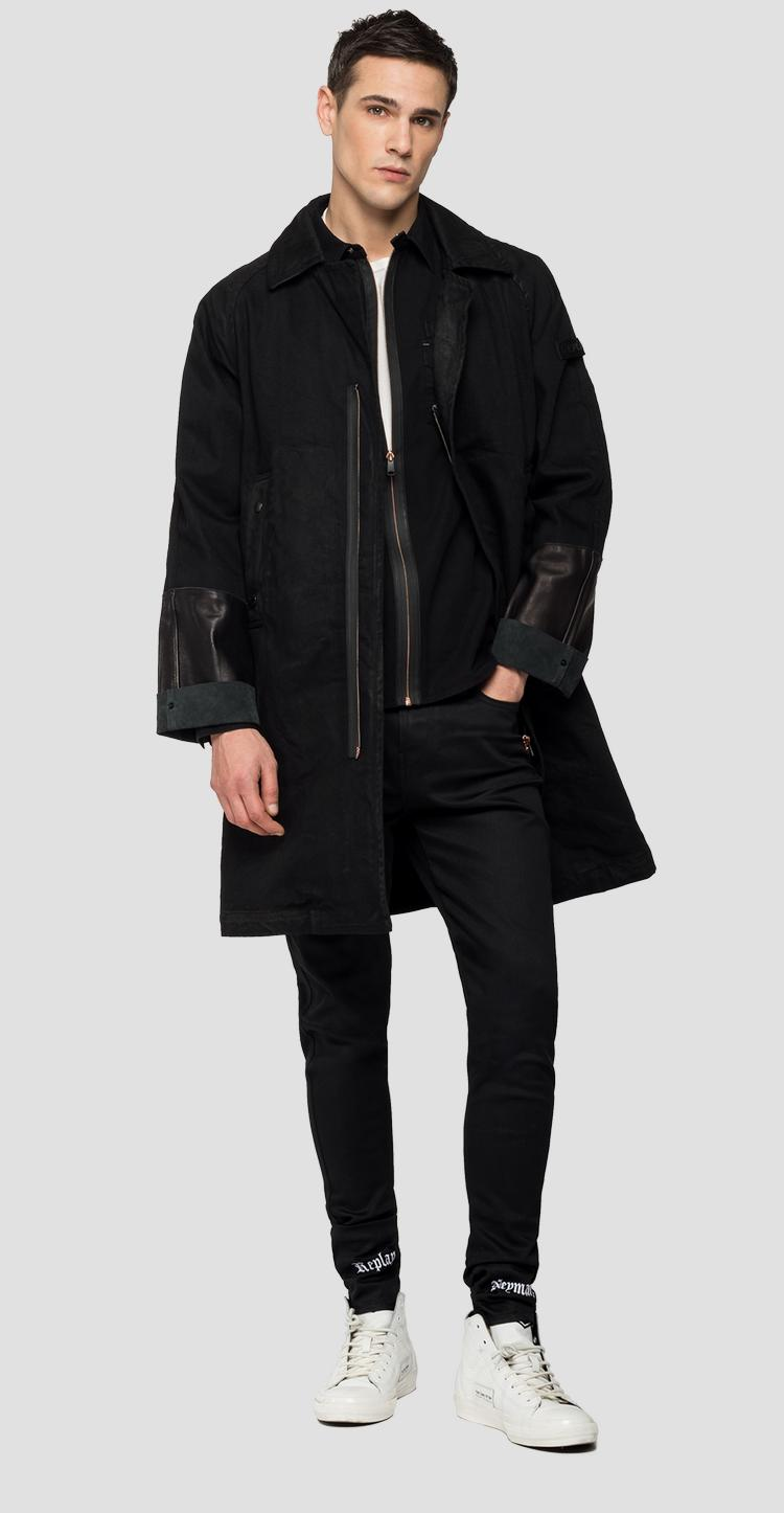 REPLAY NEYMAR NJR Capsule Collection denim and leather trench nj8127.000.263nj01