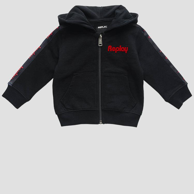 Cotton hoodie with zipper- REPLAY&SONS