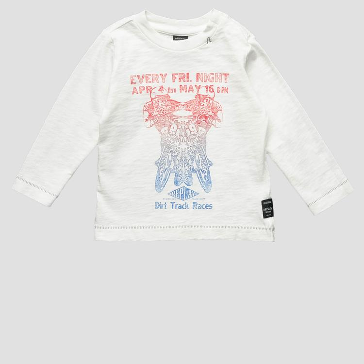 T-shirt with digital print- REPLAY&SONS