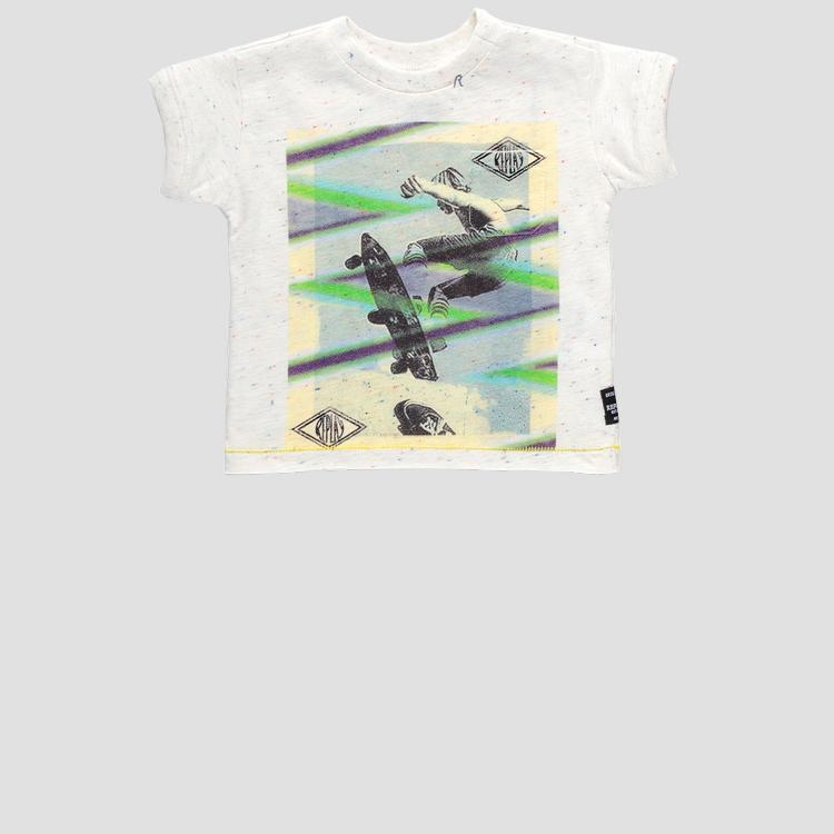 T-shirt with pocket and skate print pb7300.050.22872