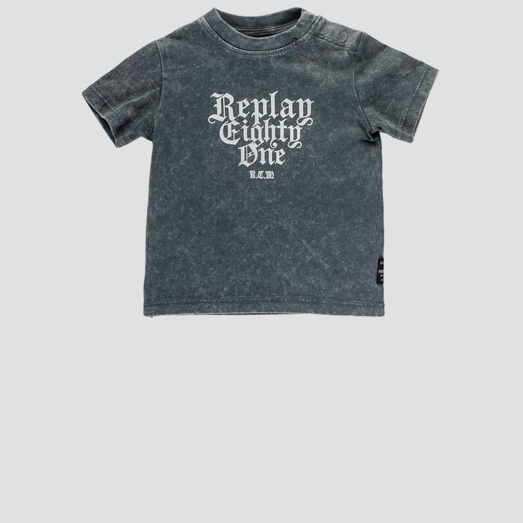 Crewneck t-shirt with print- REPLAY&SONS