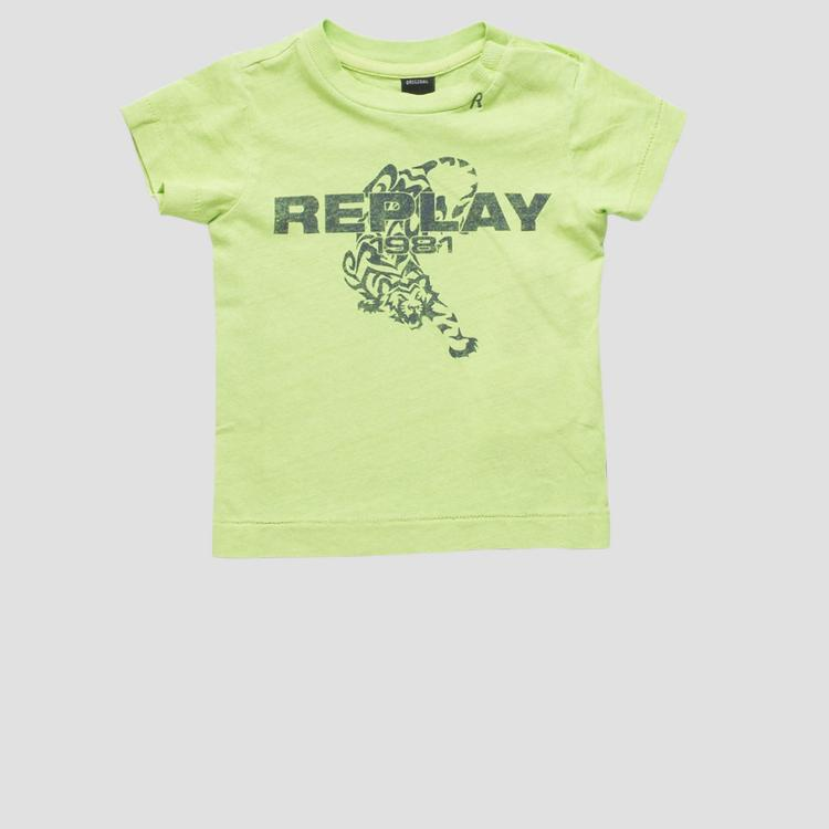 T-shirt with tiger print- REPLAY&SONS