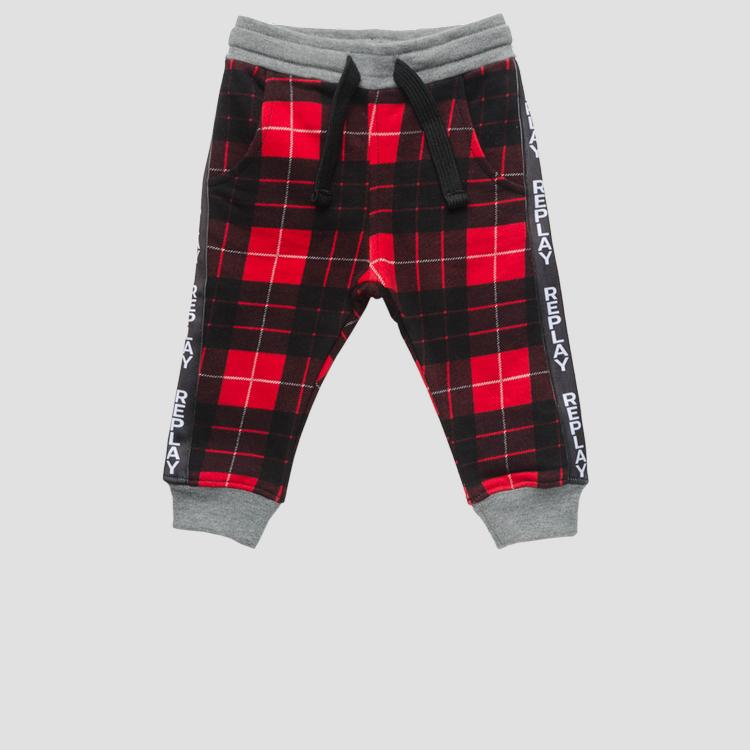 Checked fleece trousers- REPLAY&SONS