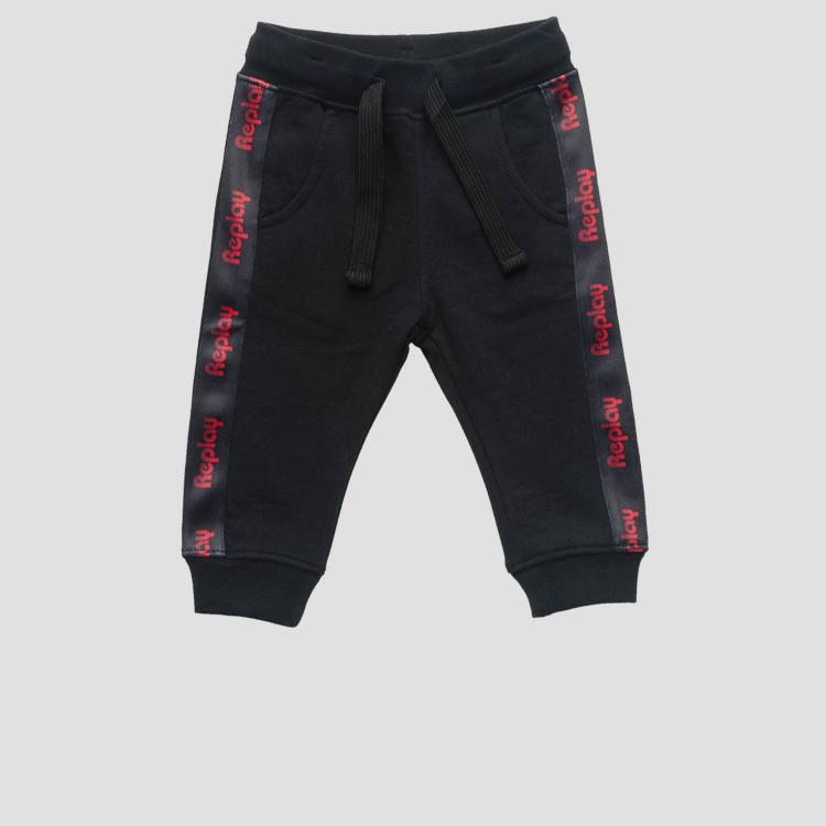 Fleece trousers with writings- REPLAY&SONS